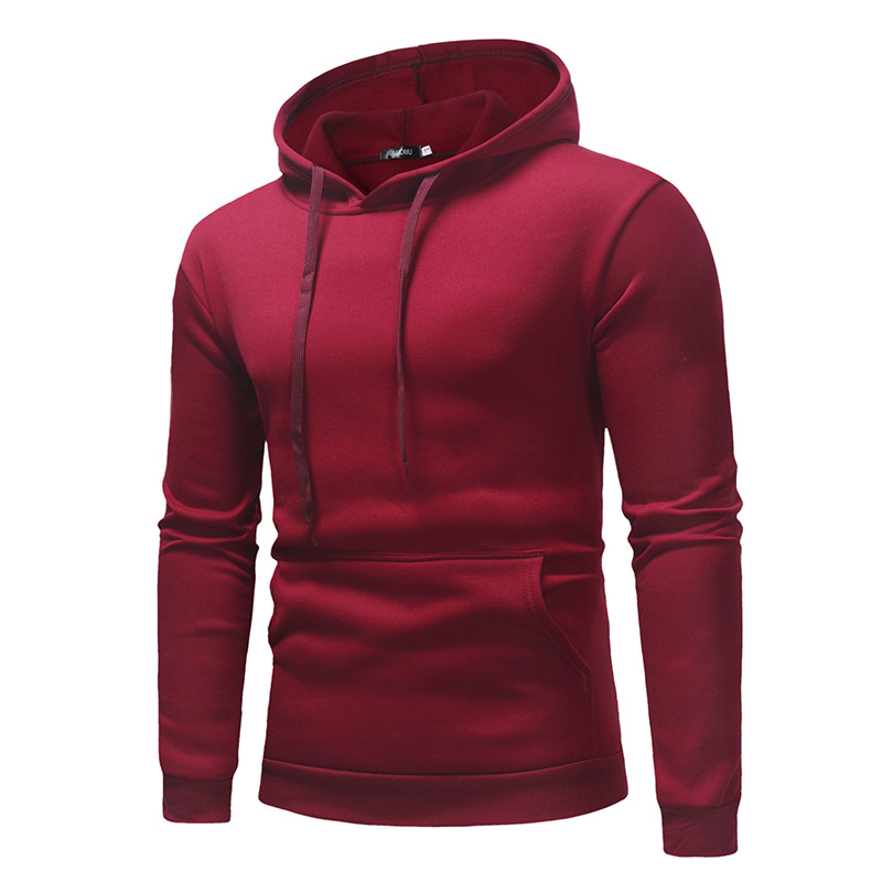 2019 New Autumn Winter Men Polo Sweater Shirt OEM Custom Logo Hoodies With Pocket 3