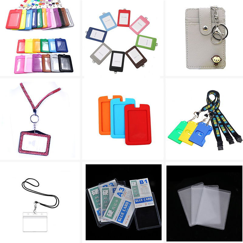 New Arrival Card Sets ID Card Holder Lanyard Leather Slim Wallet With Custom Logo