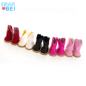 Doll Shoes 5 colors Leather Boots For 18 Inch American Doll 43cm Baby Doll For Our Generation Girls Toy Best Christmas Gifts