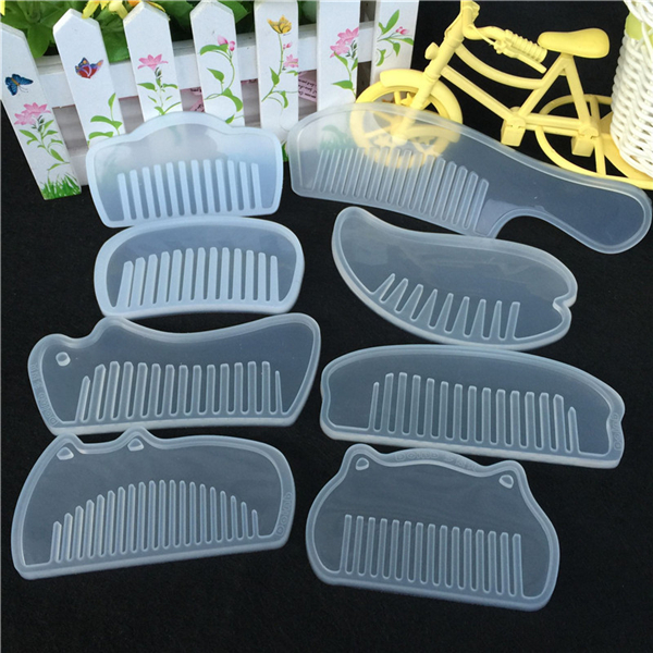 3D Transparent Silicone Comb Bracelet Mold Epoxy Resin Molds DIY Jewelry Making