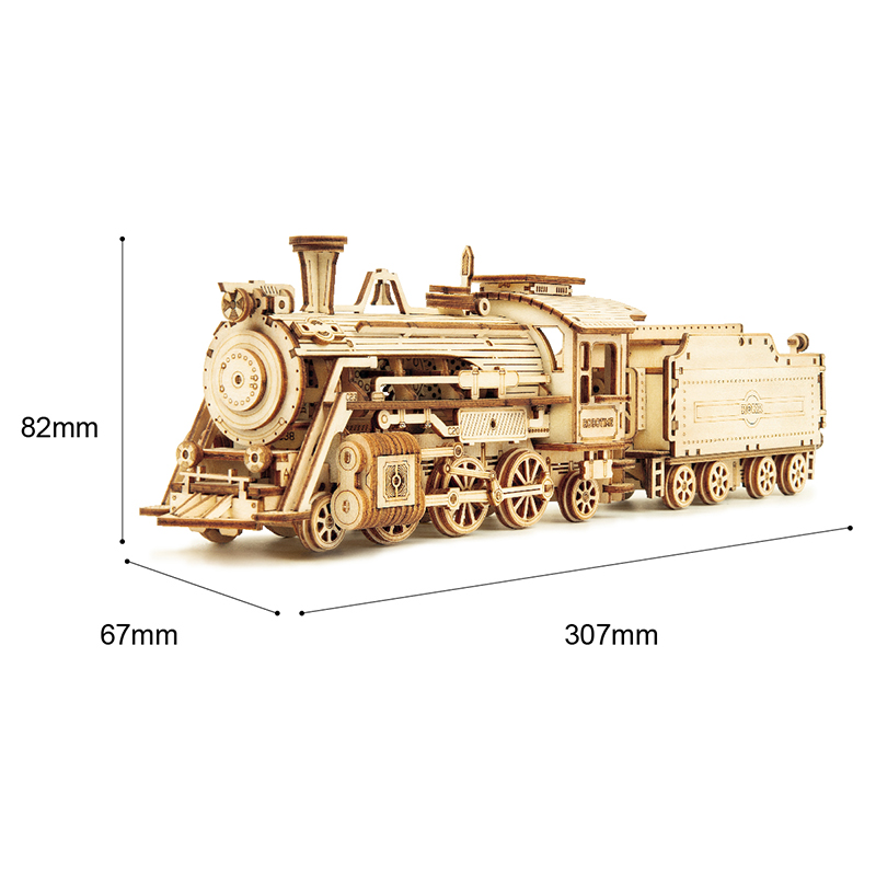 Robotime Train Model Building Kits 3D Wooden Puzzle Toys for Teen