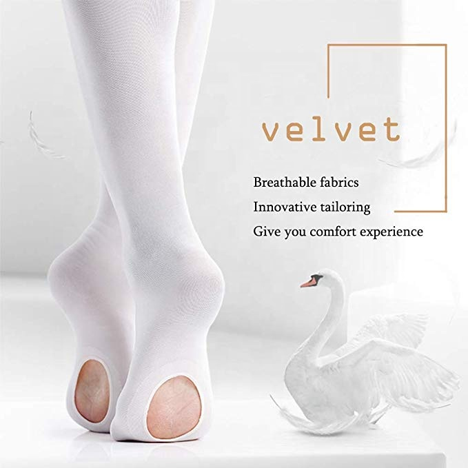 Wholesale Ultra Soft Girls Convertible Dance Ballet Tights Dance Ballet Footed Tights With Holes