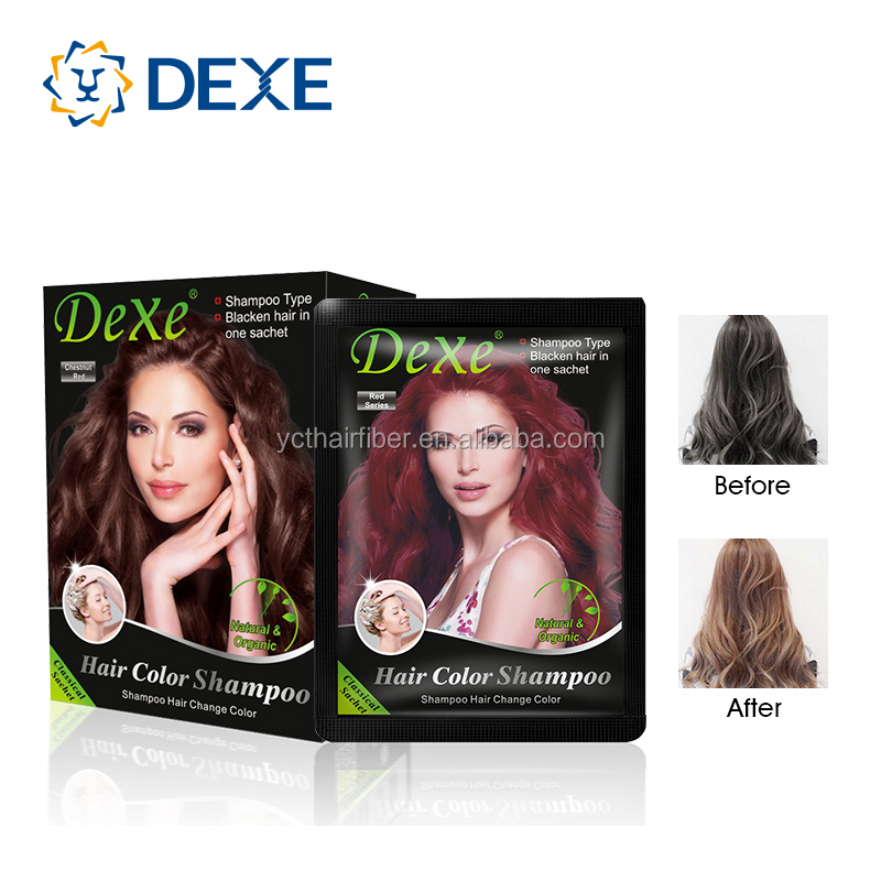 200ml Bottle Pack Hair Dye Professional Make Hair Black Shampoo - Buy Black Hair Color Shampoo