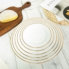 Dining Plate Set Tableware Wedding Ceramic Gold Rim Wedding Dinner Plate