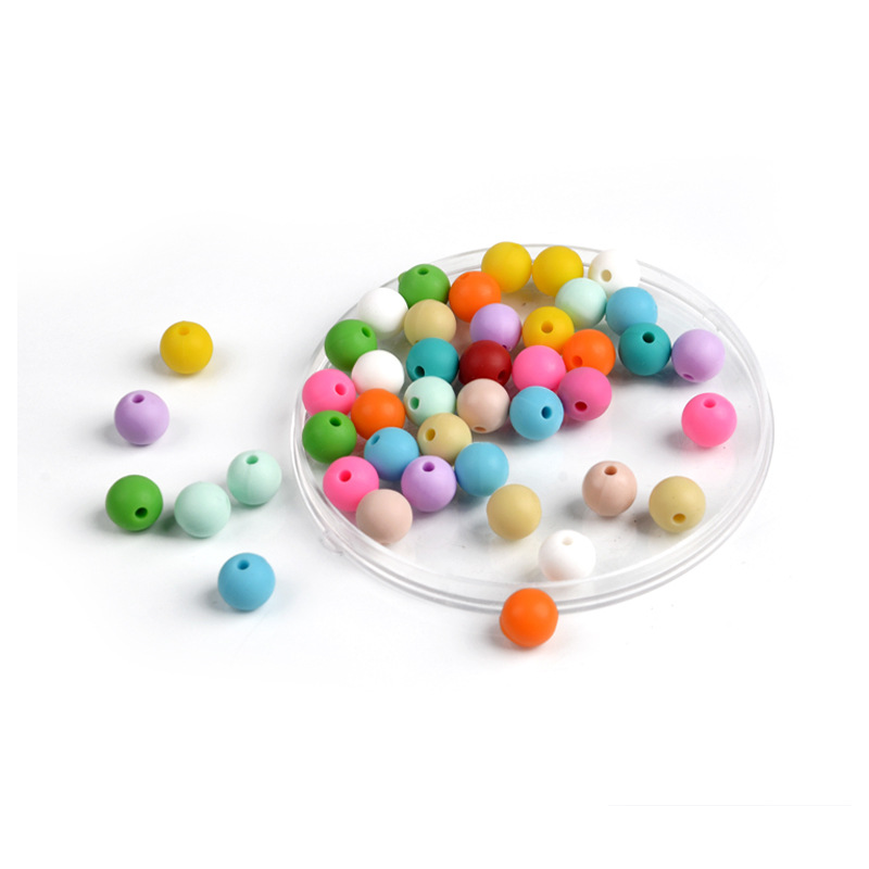 Round Bulk Heart Round Wholesale Soft Bead Food Grade Silicone Beads Bpa Free