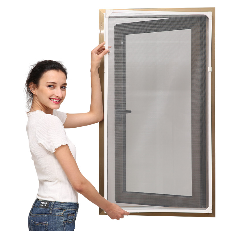 DIY magnetic insect screen window with our own patent