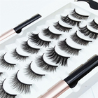 Eyelashes Cosmetics Private Label Magnetic Liquid Eyeliner Fake Eyelashes Cosmetics Magnetics Eyeliner Set