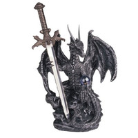 Polyresin/resin fantasy figures Dragon Collection with Sword Collectible Fantasy Decoration Figurine