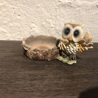 Resin night owl figures miniature figurine for garden animal statue souvenir gift