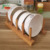 Wholesale High Quality Storage Holder Organizer Foldable Bamboo Wood Plate Rack