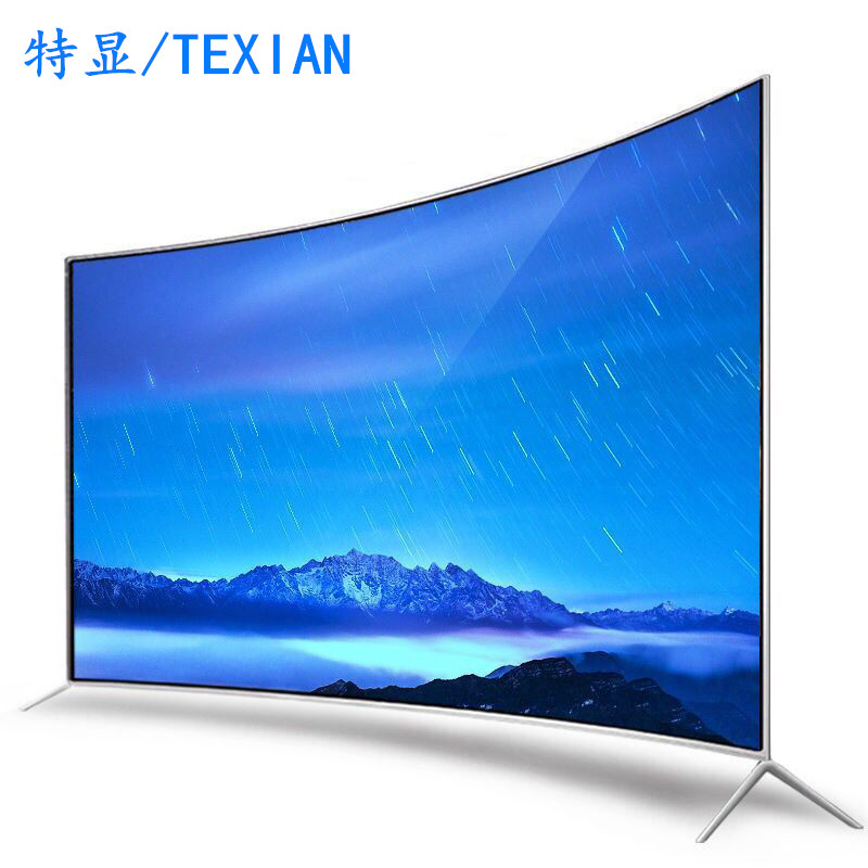 Hot sale curved smart <strong>tv</strong> 55 Inch led android 4K ultra-thin explosion-proof screen televisions
