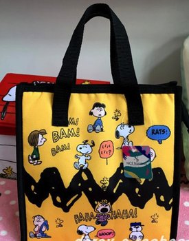 peanuts cartoon snoopy oxford fabric reusable Insulated Lunch Bag Tote Box Meal Prep for Men & Women Work Picnic or Travel