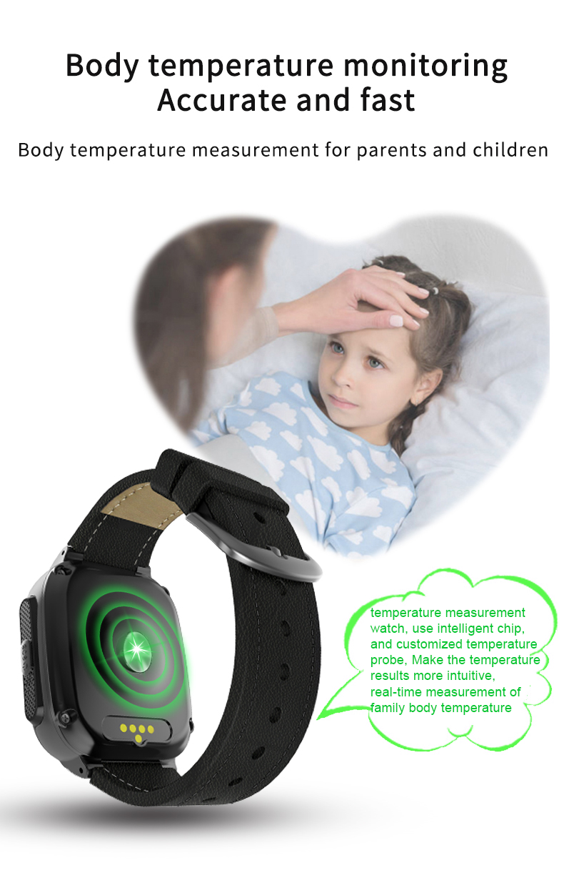 Shenzhen Factory GPS LBS WIFI Location Thermometer 4G Smart Watch Camera  Watch Phone for Kids Children