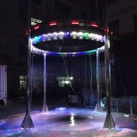 Indoor artificial decorative graphical digital water curtain