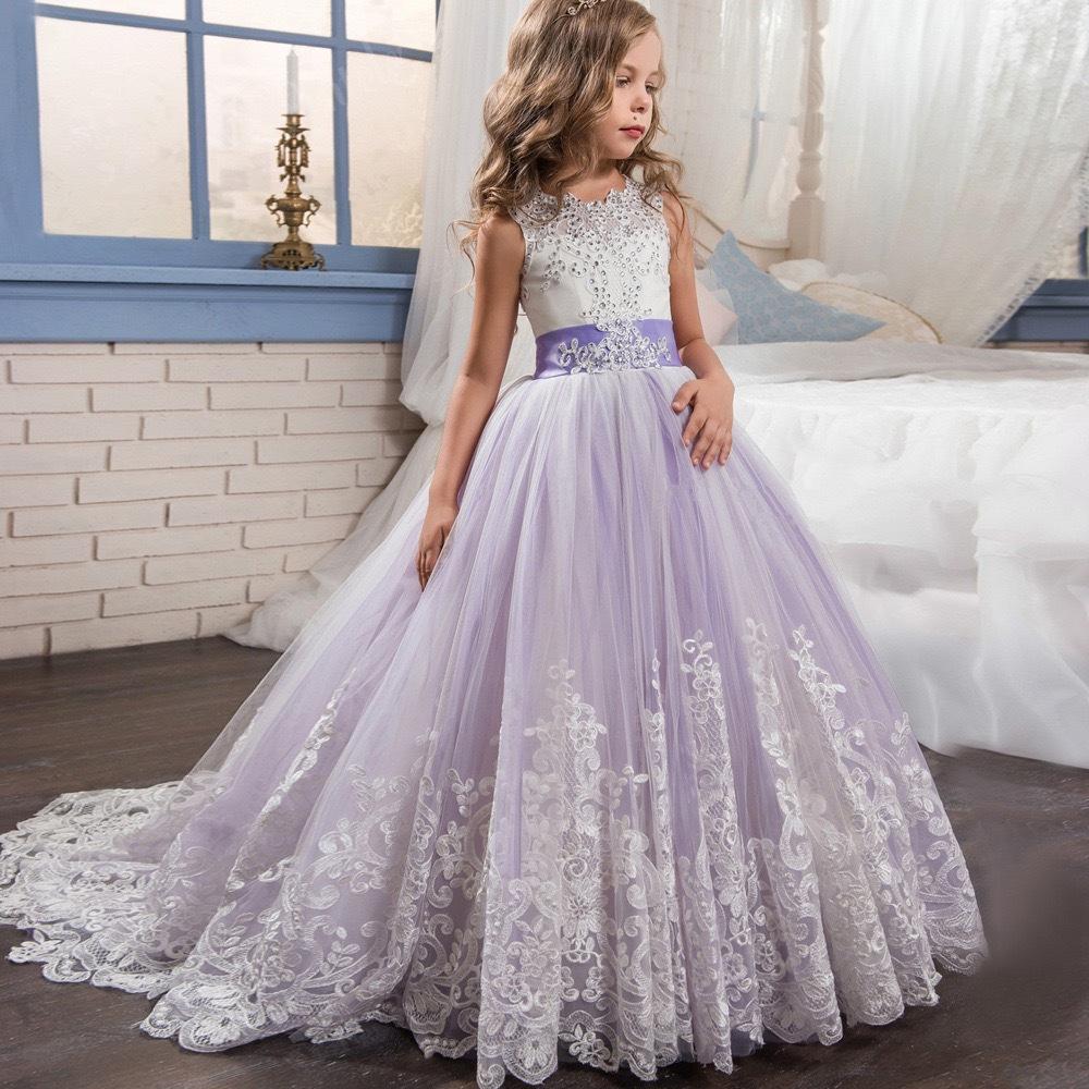 Heißer verkauf großhandel 6 zu 14 jahre kinder kleidung blume hochzeit hübsche prinzessin kinder mädchen party kleider