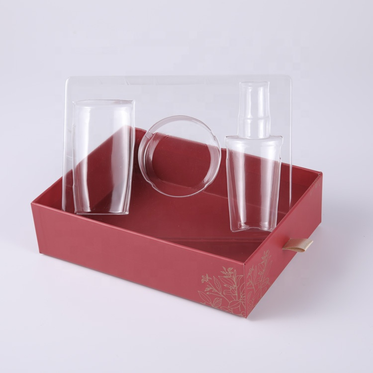 Custom drawer gift paper box packaging with logo printing for cosmetic