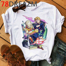 Мужская футболка с забавными рисунками Jojo, летняя уличная футболка в японском стиле, с графическим рисунком, большие размеры(Китай)