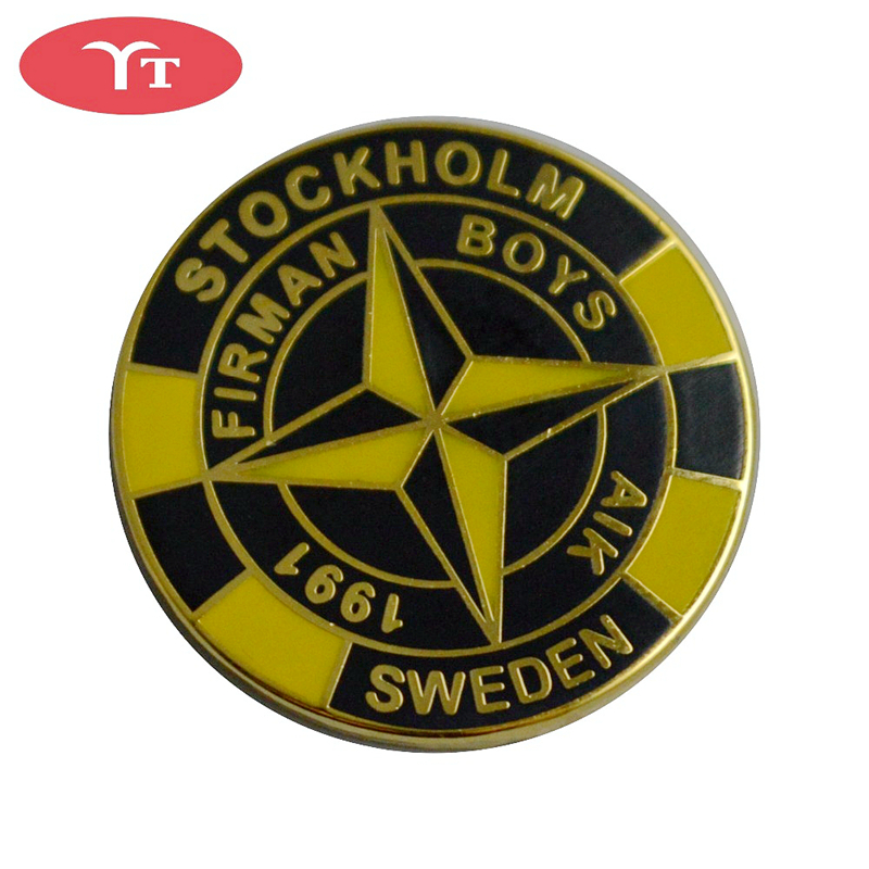 <strong>custom</strong> enamel stone island <strong>metal</strong> lapel pin <strong>badge</strong>
