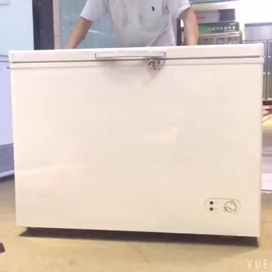 210L A + DOE 2018ที่มีคุณภาพสูงด้านบนเปิดประตูเดียวตู้เย็นแช่แข็งลึก