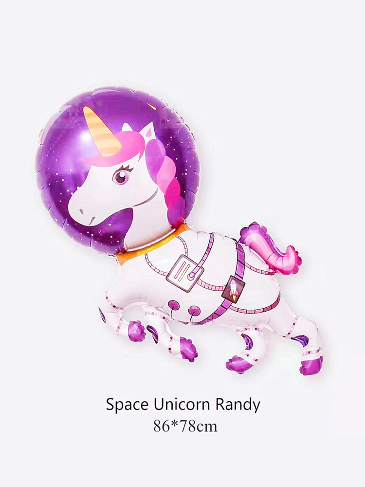 Cartoon Funny Space Bear Foil Balloons Baby Shower Supply Birthday Party Decoration for Kids Child Toy Monkey Unicorn Space Balo