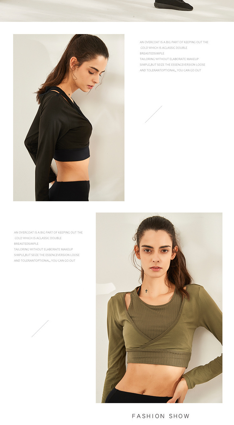 New fashion Ladies Yoga clothing  O neck Crop tops Womens fitness  shirts running Dry fit long sleeve Sweatshirts