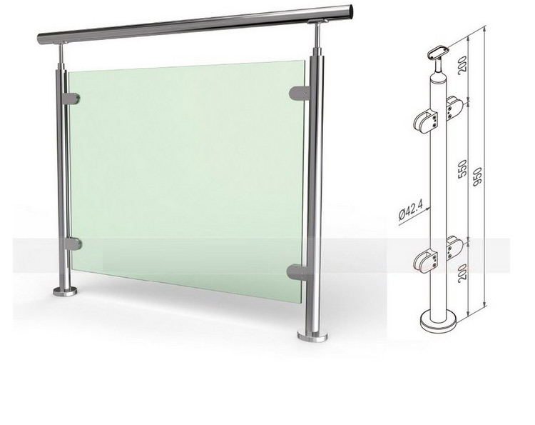 Cheap glass handrails for stairs