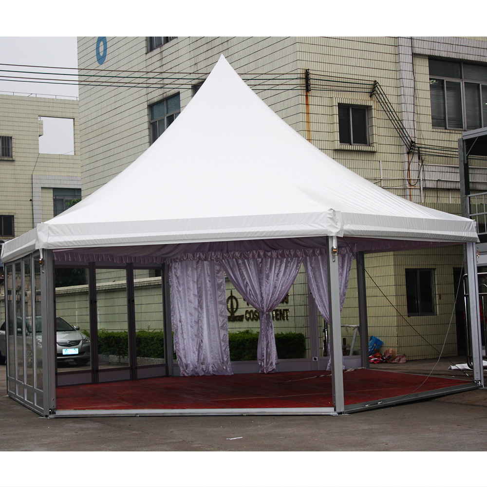 6x6m Aluminum frame marquee high peak tent for wedding event