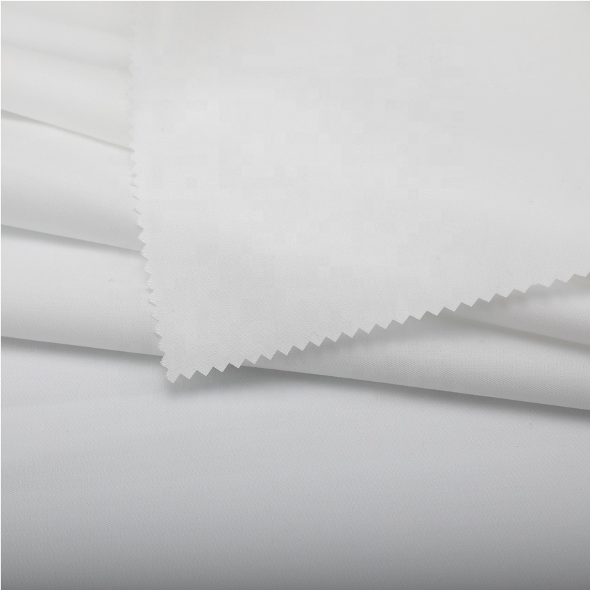 Promotion fabric 100S double yarns 120GSM White 100% cotton Twill fabric for shirt