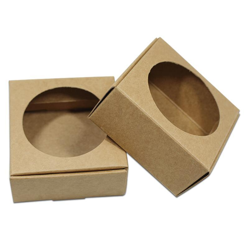 Wholesale Kraft Paper Gift Packaging Box Hollow Out Display DIY Paper Christmas Boxes For Party Wedding Supplies