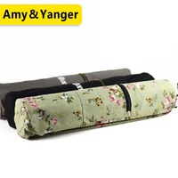 BSCI factory high quality canvas yoga mat carry bag with air holes