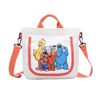Korean Style Sesame Street Cartoon Canvas Bag Girl Animals Canvas School Bag
