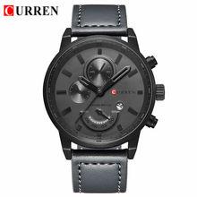 CURREN Кварцевые часы для мужчин Топ бренд класса люкс кожа мужские часы модные повседневные спортивные часы мужские наручные часы Relogio Masculino(Китай)