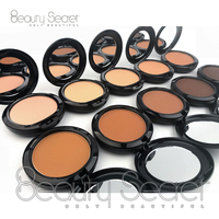 Best makeup 10 color face private label OEM pressed powder foundation and powder for all skin