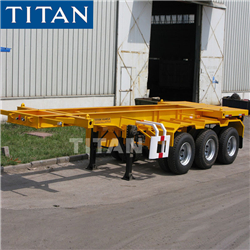 TITAN high bed trailer 45 ft flat body decks trailers for sale