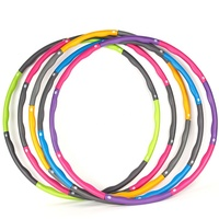 Quality weighted foam padded hula hoops for travel exercise