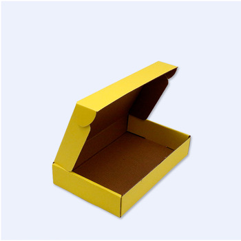 ISO9001 Certificate Mailer Yellow Color Shipping Packaging Box Fast Delivery