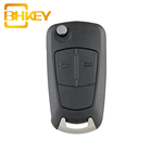 2 Buttons Delphi System 433 MHZ PCF7941 Chip HU100 Blade Folding Fob Remote Car Key For Opel Corsa D Meriva Vauxhall