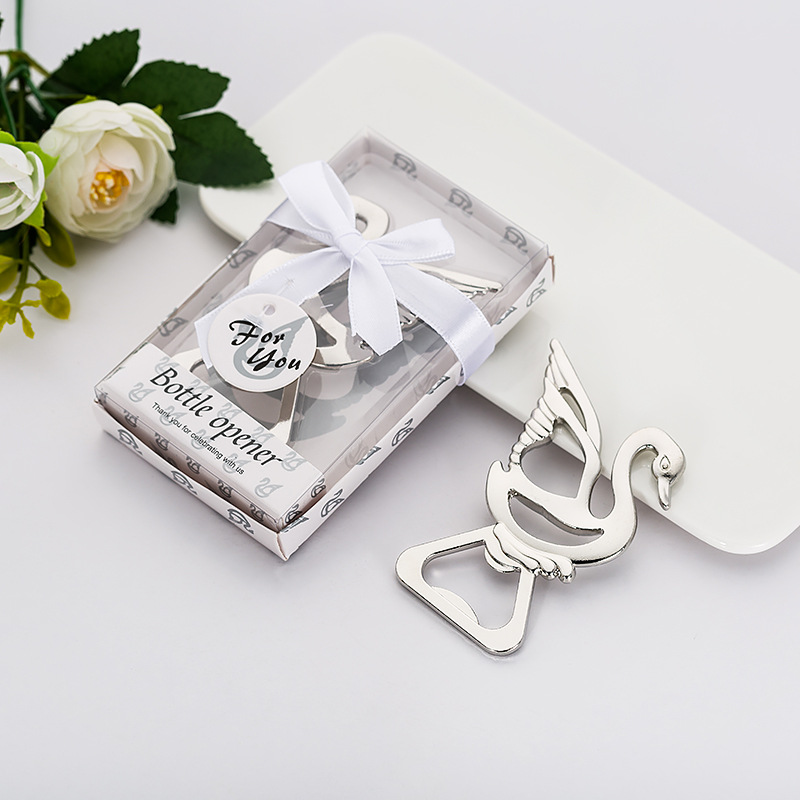 Ywbeyond Wedding souvenirs of little swan design bottle opener favors For Bridal show party favor and wedding decorations