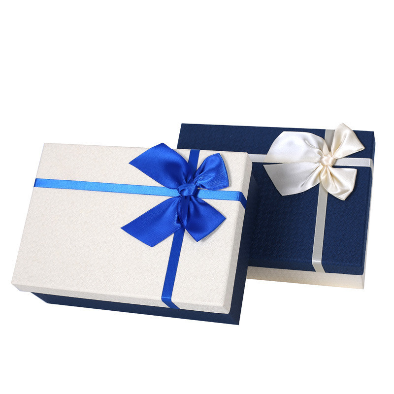 Creative Different Size Various Colors Bow Gift Boxes Cup Rectangle Book Cover Packing Paper Box