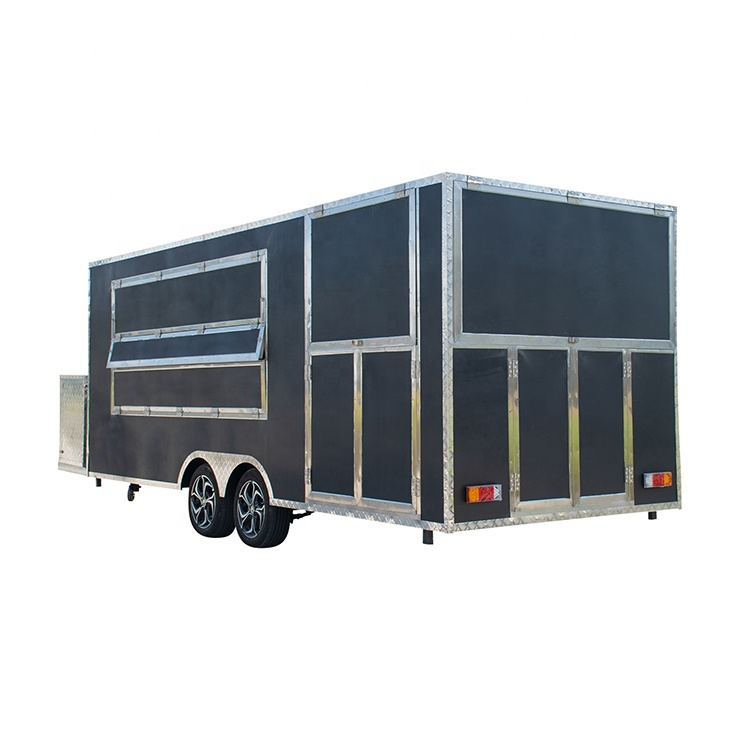 Pizza oven mobile food trailer Chinese food van trailer BBQ fast food truck cart with porch