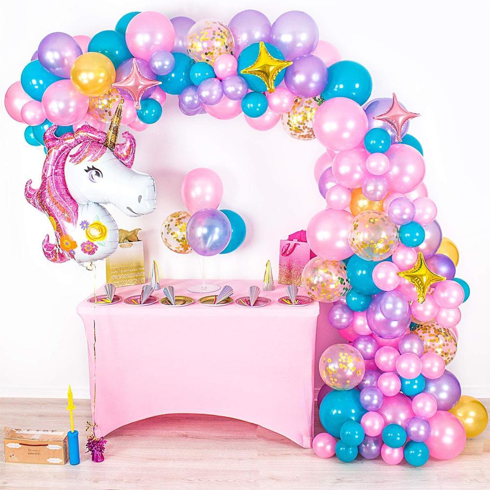 Unicorn Balloon Arch Garland Kit Giant Unicorn Unicorn Party Supplies for Birthdays & Baby Showers Party Decoration