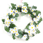 Home Decoration Wreaths Decorative 2019 Fabric Rose Flower/Leaf Wreath for Home Decoration