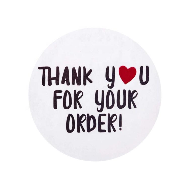 Angepasst Logo Druck Danke für Ihre Kauf Auftrag Label Aufkleber für Thanksgiving