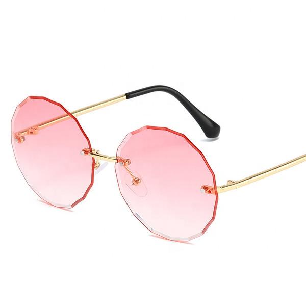 Fashion Style Children Unique Round Sunglasses Kids Cool Metal Frame Sunglasses Baby Summer clear Eyewear