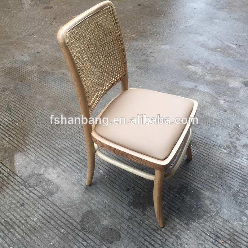 Natural Wood or Black Lacquer Edward Wormley Armchair with Caned Backrest