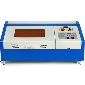 Upgraded 40W USB CO2 Laser Engraver Engraving Cutting Machine Cutter K40 with LCD Display Rotate Wheels
