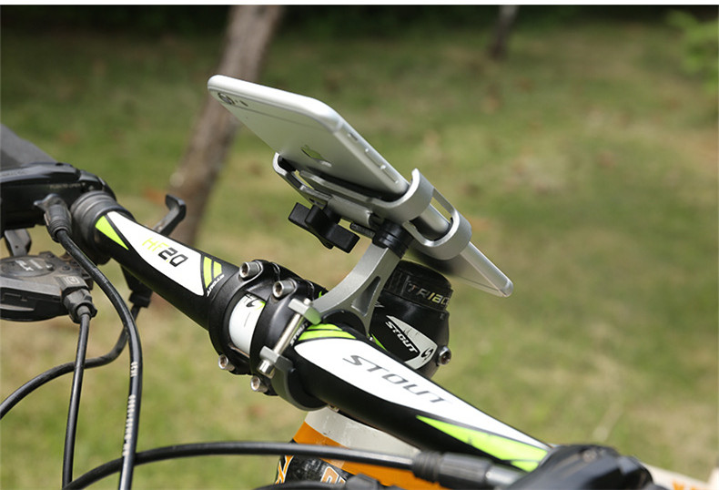 New Metal Adjustable Bicycle Non-Slip Motorcycle Mountain Bike Flexible Mobile Phon Holder