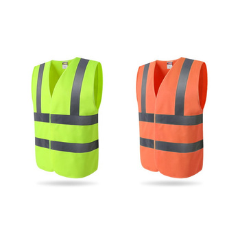 EN 471 ANSI Class 3 Wholesale Airport Railroad Hi Vis Luminous Yellow Traffic Road Orange High Visibility Reflective Safety Vest