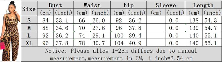 0042005 Newst Design Clothing Manufacturers Camouflage Leopard Fashionable Long Pants Hot casual Sleeveless Jumpsuit For Women