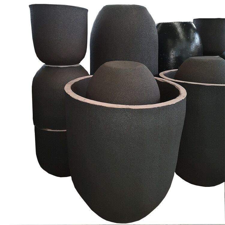 Precious Custom Induction Furnace Clay Crucible Metal Melting High Purity Graphite Crucibles